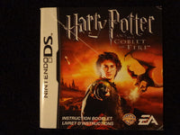 Harry Potter And The Goblet Of Fire Instruction Booklet Nintendo DS