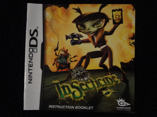 Insecticide Instruction Booklet Nintendo DS