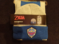 Legend Of Zelda Hero Of Hyrule Cold Weather Knit Hat And Scarf Set