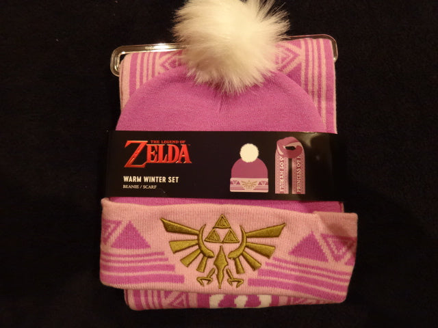 Legend Of Zelda Priness Of Hyrule Knit Hat And Scarf