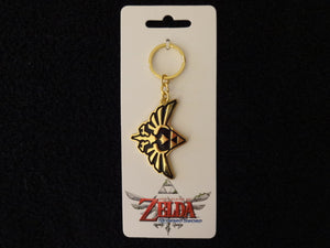 Legend Of Zelda Skyward Sword Gold Metal KeyChain