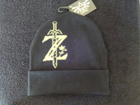 "Legend Of Zelda Black Gold ""Z Sword"" Knit Hat"