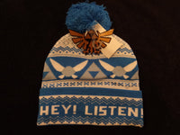 Legend of Zelda Navi Cold Weather knit Hat with Pompom