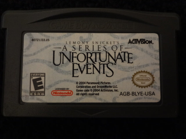 Lemony Snicket's A Series of Unfortunate Events Nintendo GameBoy Advance