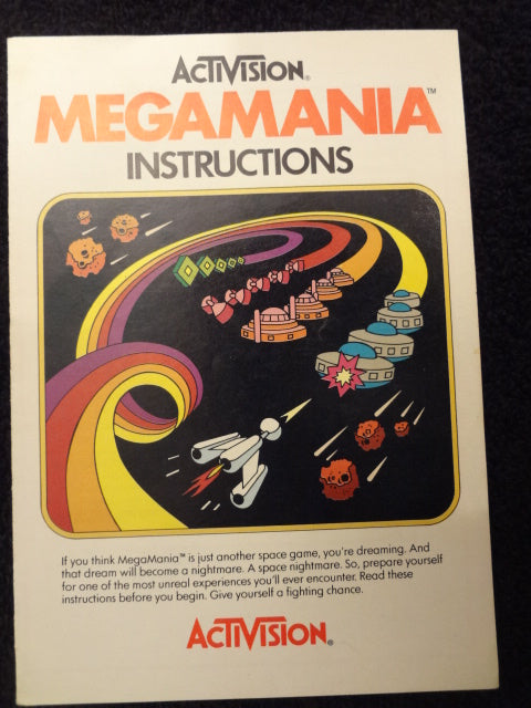 Megamania Instruction Booklet Atari 2600