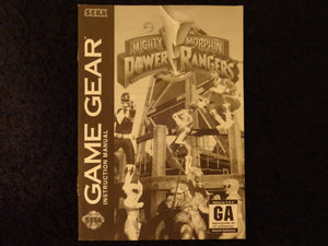 Mighty Morphin Power Rangers Sega Game Gear