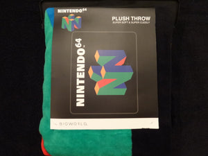 Nintendo 64 Plush Throw Blanket
