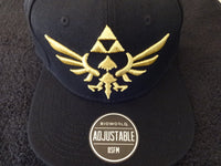 Nintendo Zelda Logo Black Snap Back