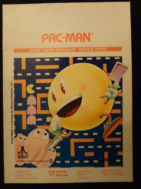 Pac-Man Instruction Booklet Atari 2600