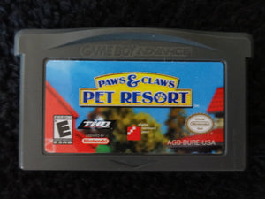 Paws and Claws Pet Resort Nintendo GameBoy Advance