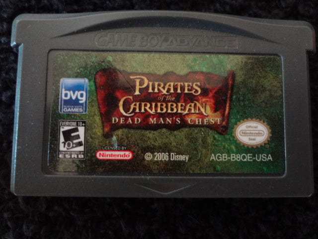 Pirates Of The Caribbean Dead Mans Chest Nintendo GameBoy Advance