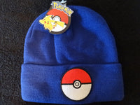 Pokemon Pokeball Blue Cuff Beanie