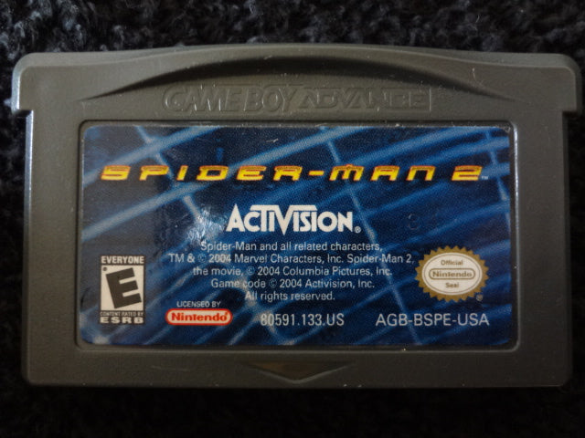 Spider-Man 2 Nintendo GameBoy Advance