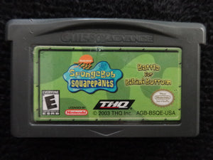 Spongebob Squarepants Battle for Bakini Bottom Nintendo Gameboy Advance