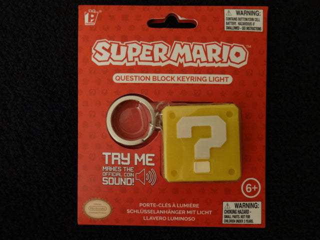 Super Mario Question Block Keychain Light With Coin Sound