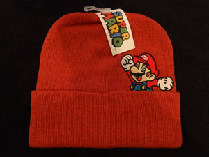 Super Mario Embroidered Peekaboo Cold Weather Knit Hat