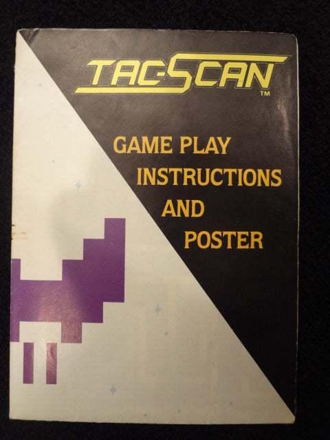 Tac Scan Instruction Booklet Atari 2600