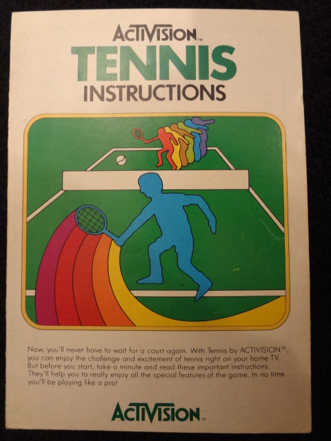 Tennis Instruction Booklet Atari 2600