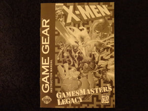X-Men Game Master's Legacy Sega Game Gear