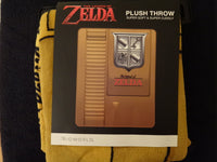 Nintendo Zelda Gold Cartridge Fleece Throw
