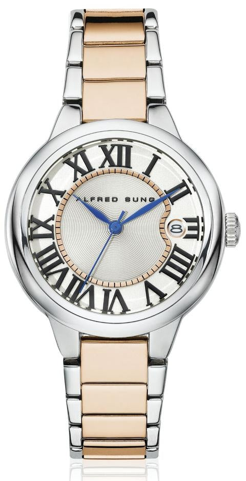 LADIES SS 2TONE IPRG BAND WHITE DIAL