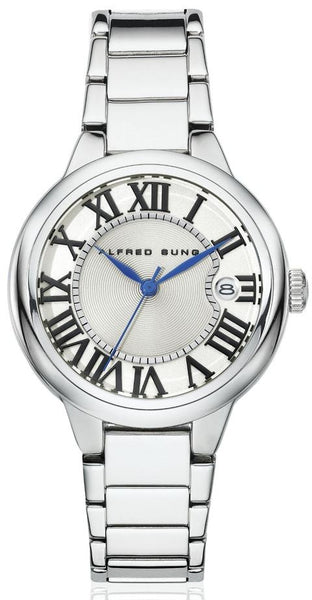 LADIES SS WHITE DIAL