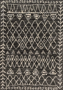 Tribal Rug/ Black