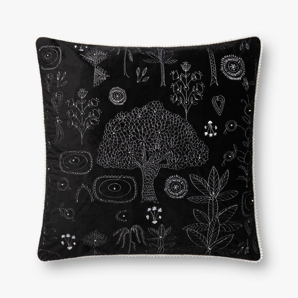 2 Black Jungle Pillows