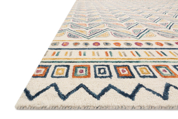 Priti Rug Collection- Ivory/Multi