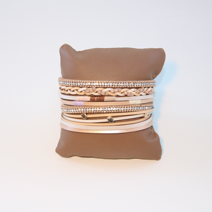 Rhi-Rhi TAN - Boho B Multilayer detailed charm Bracelet