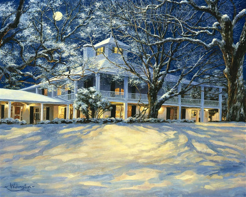 Augusta Clubhouse in the snow