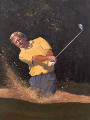Jack Nicklaus in the bunker