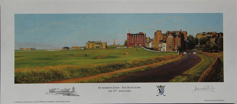 Lithograph of Road Hole at St Andrews