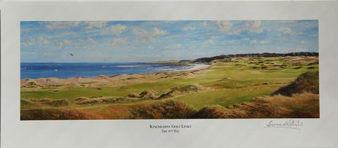 Lithographic Print of the 6th Tee at Kingsbarns