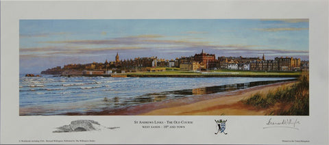 Lithograph of West Sands - St Andrews
