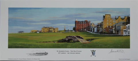 Lithograph of Swilken Bridge - St Andrews