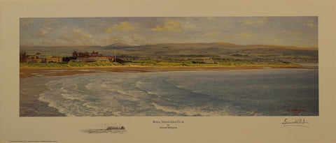 Lithograph of Royal Troon Golf Club