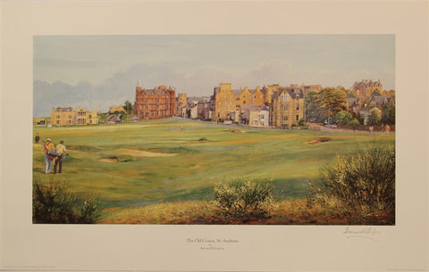 Lithograph of the Old Course - St Andews