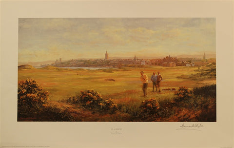 "Lithograph of St Andrews ""View of the Town"""