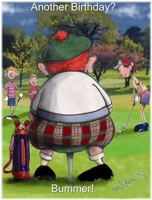 Golf greeting cards golf jigsaws another birthday bummer m4hsunfo