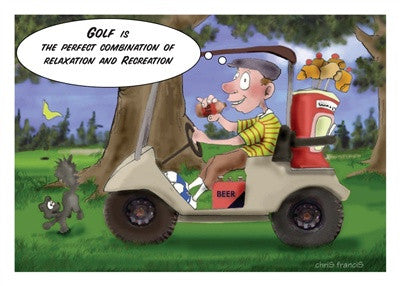 Golf is the perfect combination of relaxation and recreation