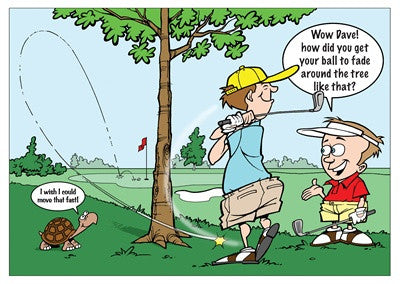Wow Dave! how did you get your ball to fade around the tree like that?