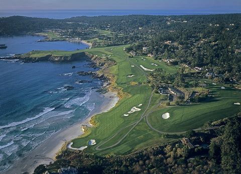 Aerial View of Pebble Beach Golf Links
