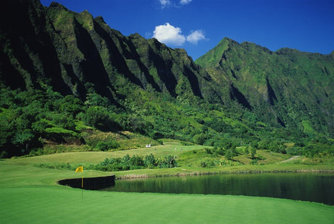 The 16th Hole at Ko'olau Golf Club, Windward, Oahu