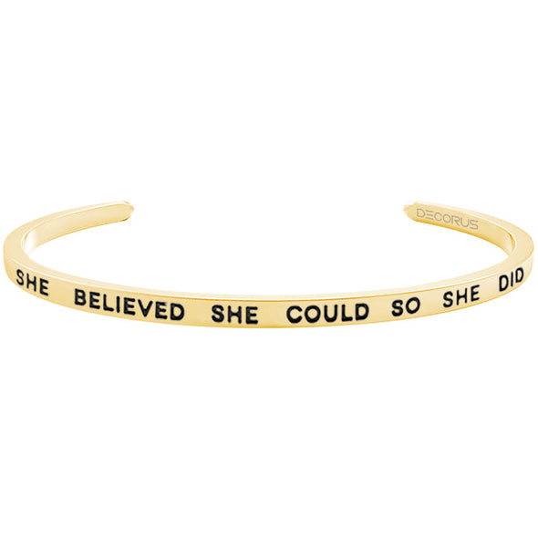 SHE BELIEVED SHE COULD - Decorus Collection