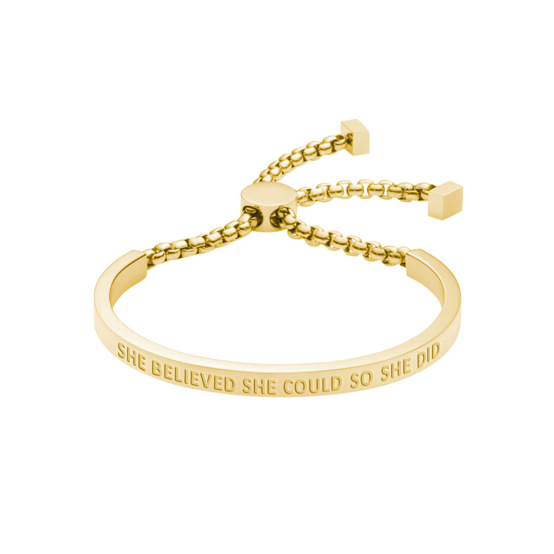 SHE BELIEVED SHE COULD CHAIN BRACELET - Decorus Collection