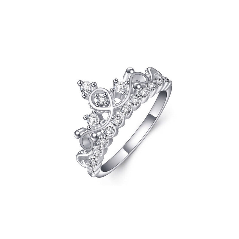 Silver Tiara Sterling Silver Ring - Decorus Collection