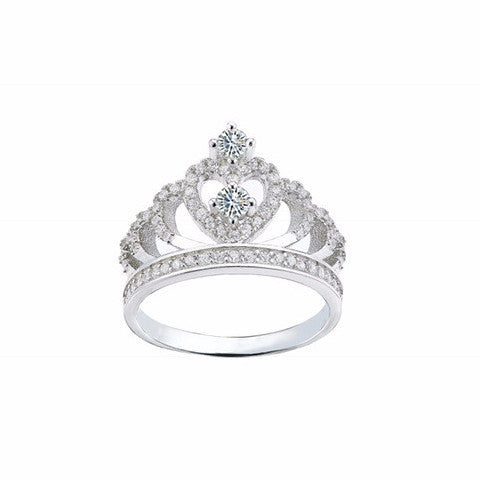 Crown Sterling Silver Ring - Decorus Collection