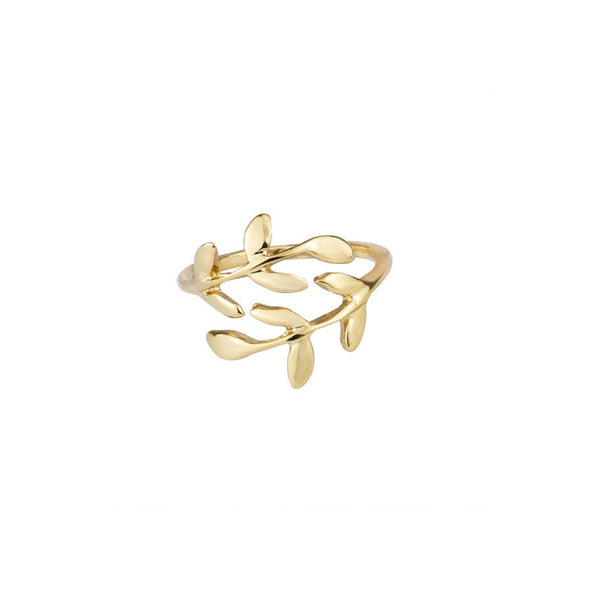 Dainty Leaf Ring - Decorus Collection