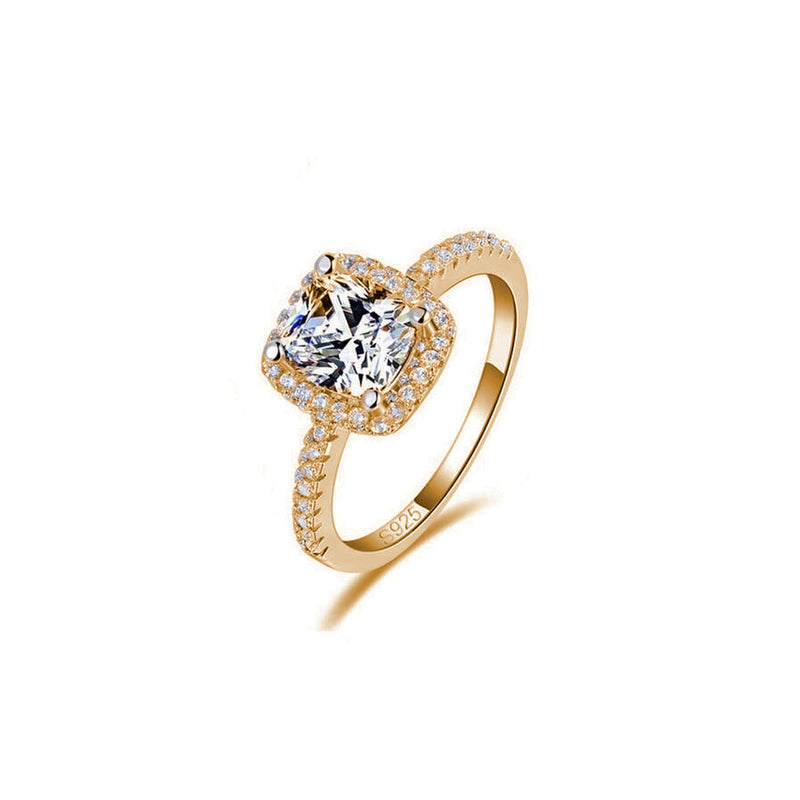 Gold Enchanted Sterling Silver Ring - Decorus Collection